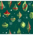 Seamless vintage green pattern with traditional vector image