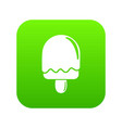 semicircular ice cream icon green vector image vector image