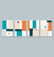 set abstract geometric wall art mid century