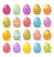 set color easter eggs vector image vector image