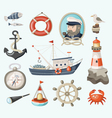 set fishing items vector image vector image