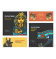 set of banners with ancient egypt symbols vector image vector image