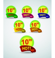 set of bright banners for your business for sale vector image vector image