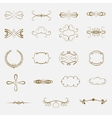 Set of vintage ornaments vector image vector image