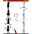 shadow task for preschoolers vector image vector image