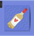 simple things - white wine vector image