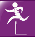 Sport icon for hurdles running vector image vector image