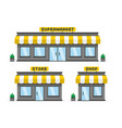 store or shop facade vector image