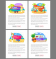 summer sale and discounts price off websites vector image vector image