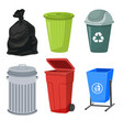 trash containers set vector image