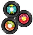 vintage 45 record label designs set 1 vector image vector image