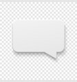 white blank paper speech bubble vector image vector image