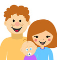 Happy Family Man Woman and Kid vector image