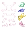 set of four strips of pink blue yellow vector image