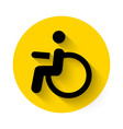 Disabled icon vector image