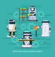 artificial intelligence round composition vector image vector image