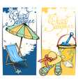 beach card vector image