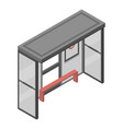 bus stop icon isometric style vector image vector image