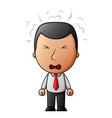 businessman angry cartoon vector image