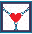 chained heart vector image vector image