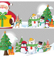 christmas background with santa claus and merry vector image vector image