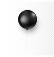 circle black balloon decoration element for your vector image