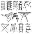 Clothes horse silhouettes vector image vector image
