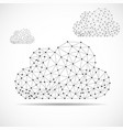 clouds of lines and dots abstract polygonal vector image vector image