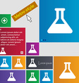 Conical Flask icon sign Metro style buttons Modern vector image vector image