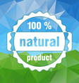country natural stamp triangular background vector image vector image