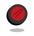 curling sport stone logo line 3d icon vector image vector image