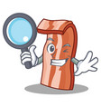 detective bacon character cartoon style vector image vector image