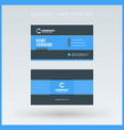 double-sided blue business card template vector image