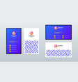 double sided modern business card template layout vector image