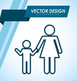 family silhouette design vector image vector image