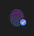 fingerprint success icon thumbprint with vector image vector image