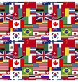 flags world sovereign states seamless pattern vector image