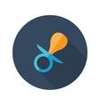 flat modern round dummy icon vector image