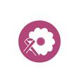 Flower ribbon breast cancer awareness