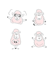 Funny sheep character design vector image