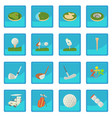 golf items icon blue app vector image vector image