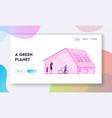 green eco city futuristic technology website vector image