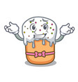grinning easter cake character cartoon vector image vector image