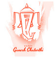 happy ganesh chaturthi background in abstract vector image