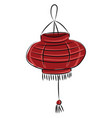 image chinese lamp - chinese lantern or color vector image