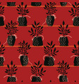indoor plant pots seamless pattern hand vector image vector image