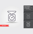 kitchen scale line icon with editable stroke vector image vector image