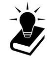 knowledge icon symbol vector image vector image