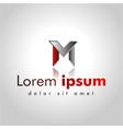 letter mv line logo design creative minimal vector image vector image