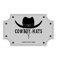 Logo or banner of cowboy hats vector image